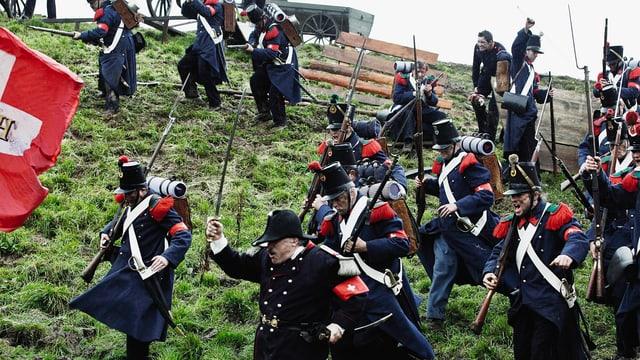 Die Schlacht bei Gislikon gedreht in Merlischachen.