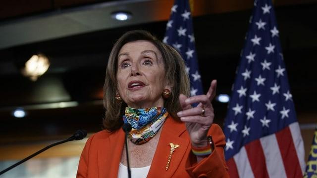 La politicra americana Nancy Pelosi.