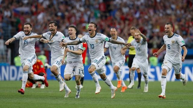 squadra russa che giubilescha