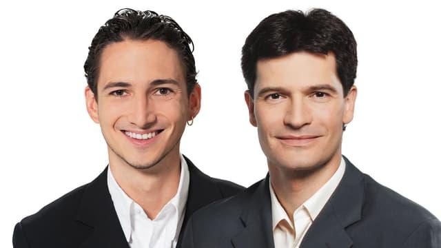Porträt Patrick Schmid (links) und Stefan Hofmänner.