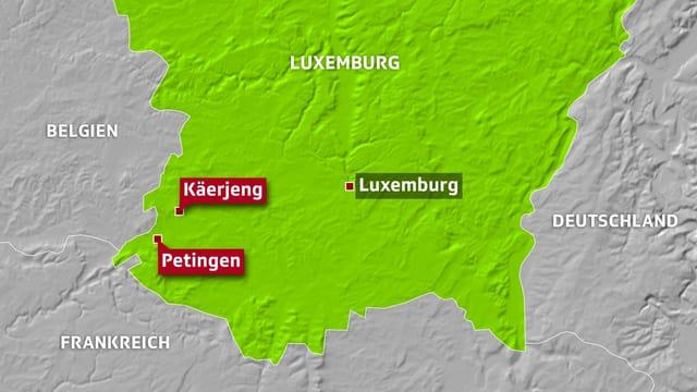 Karte Luxemburg