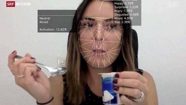Frau Animation Gesichtszüge digital vermessen