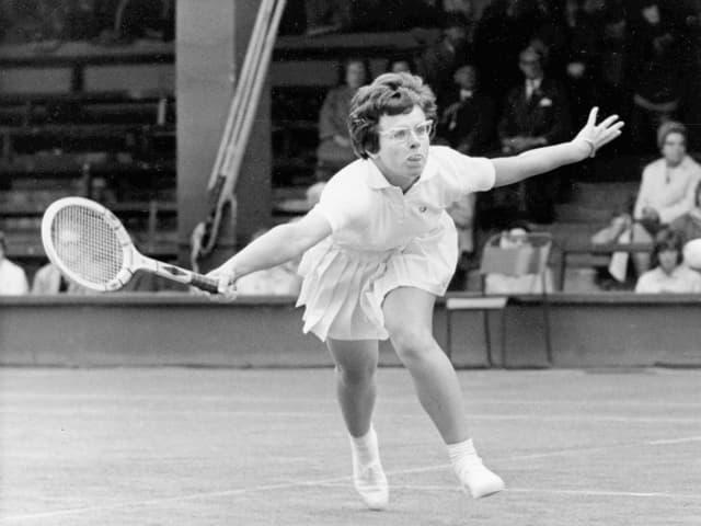 Billie Jean King, 1965 in Wimbledon.