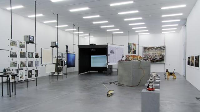 Ein Bild der Ausstellung im Löwenbräu-Areal.