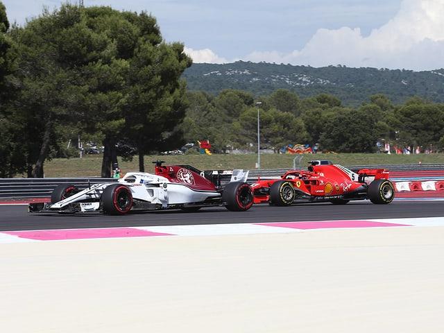 Charles Leclerc fuhr in Frankreich zeitweise vor Sebastian Vettel.