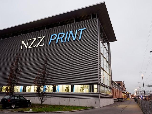Das Gebäude der ehemaligen NZZ-Druckerei in Schlieren.