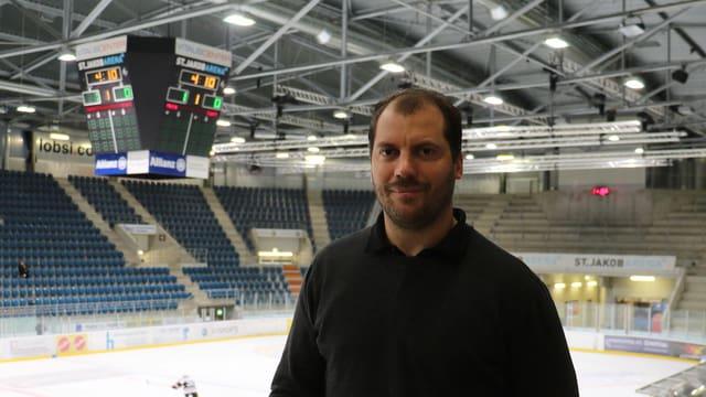 Olivier Schäublin in der St.Jakob Arena