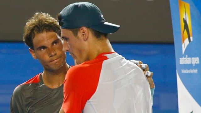 Rafael Nadal und Bernard Tomic.