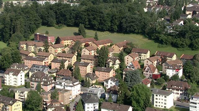Flugaufnahme der abl-Siedlung «Obermaihof» in der Stadt Luzern.