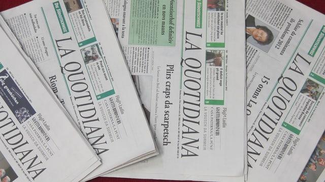 Diversas ediziuns da La Quotidiana sin maisa.
