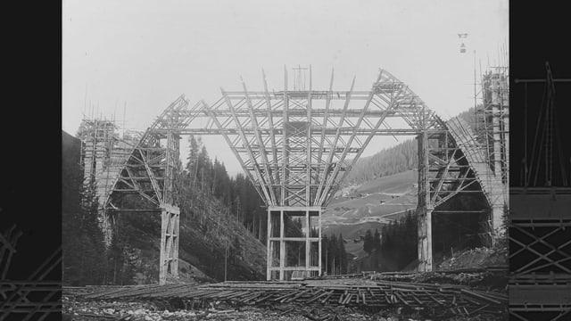 Viaduct Langwies, Viafier retica