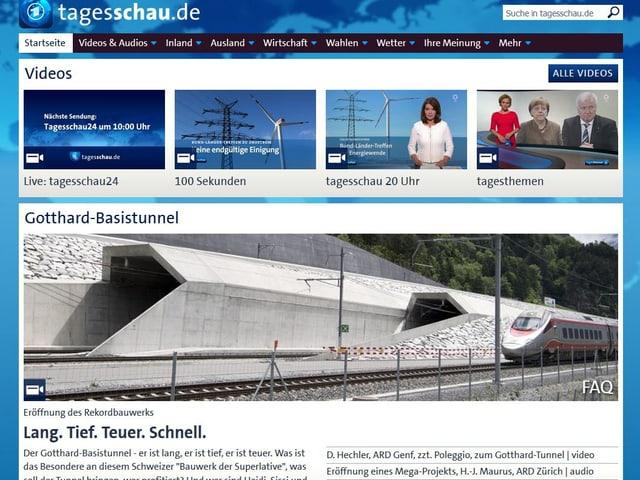 Screenshot von ard.de