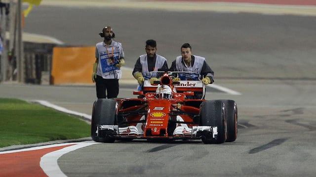 Der Bolide von Sebastian Vettel war zwar schnell, aber nicht problemfrei.