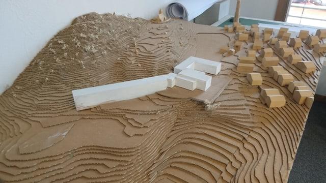 Model dal nov hotel projectà a Falera.