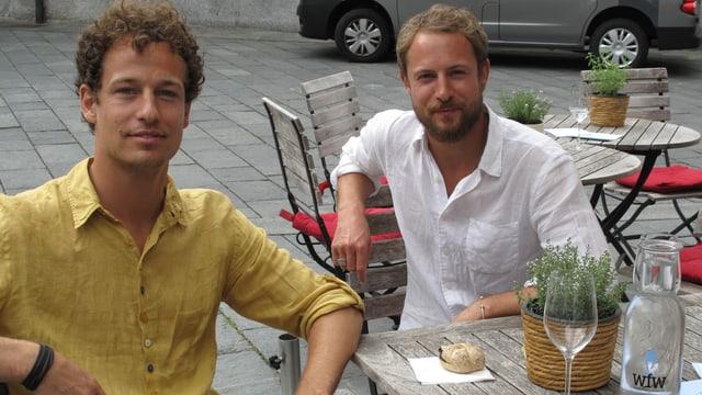 Die Brüder Lior und Maurice Etter.