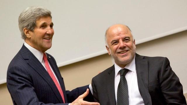 John Kerry und al-Abadi in Brüssel