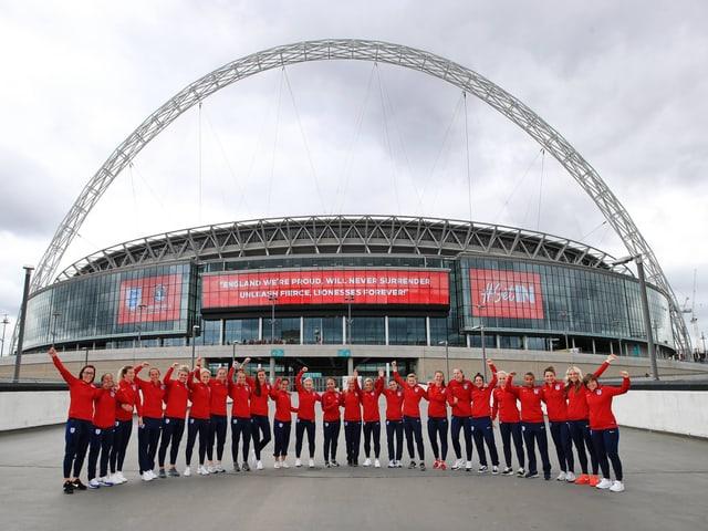 Die englische Frauen-Nationalmannschaft.