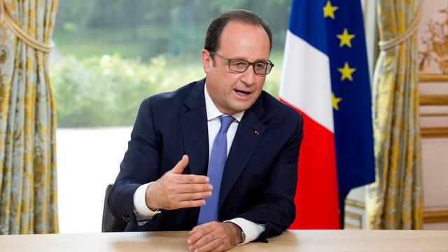 Portrait von Francois Hollande.