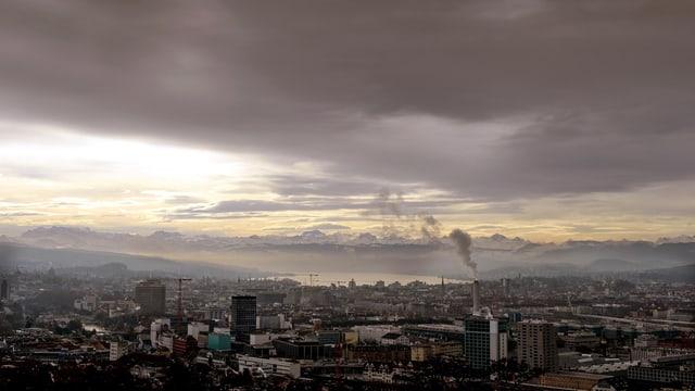 Blick über Zürich.