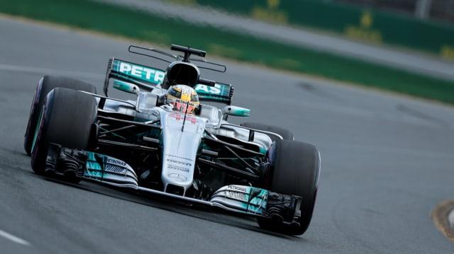 Lewis Hamilton en ses auto da furmla 1.