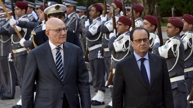 Tammam Salam und François Hollande