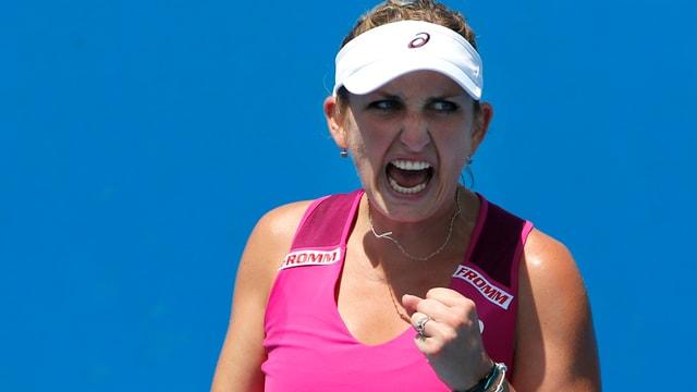 Timea Bacsinszky gewinnt ihr erstes Match in diesem Jahr.
