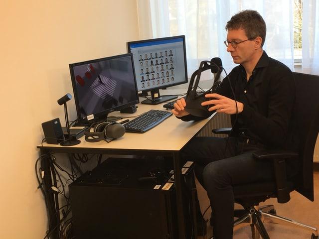 Wim Veling mit der VR-Brille