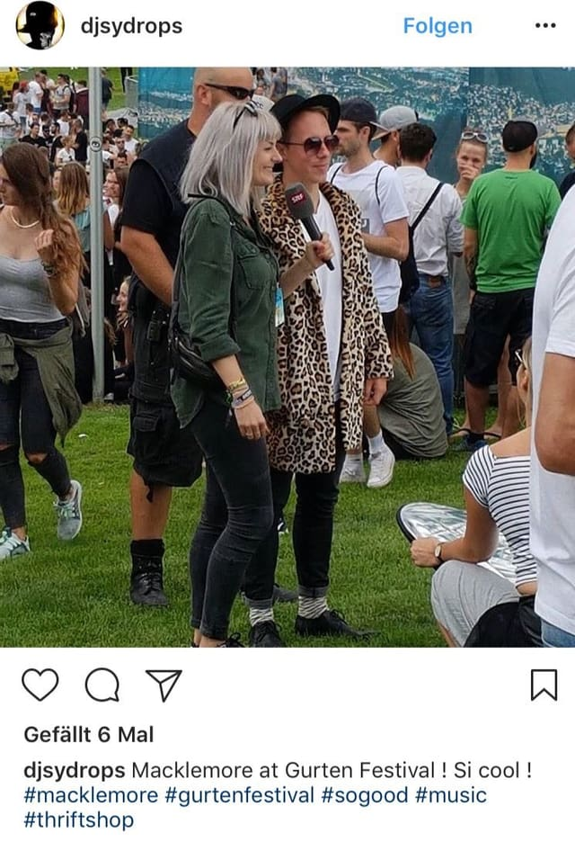 Foto auf Instagram vom falschen Macklemore
