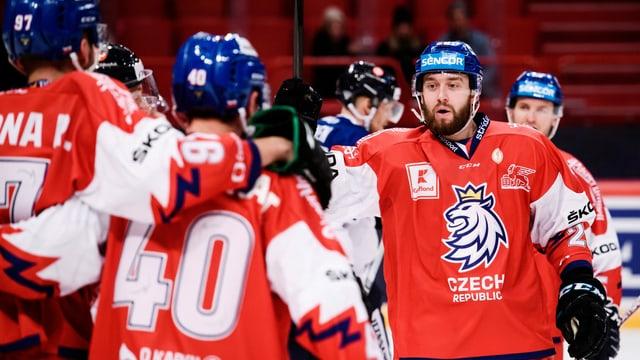 Hockeyspieler mit Jersey, Czech Republic aufgedruckt