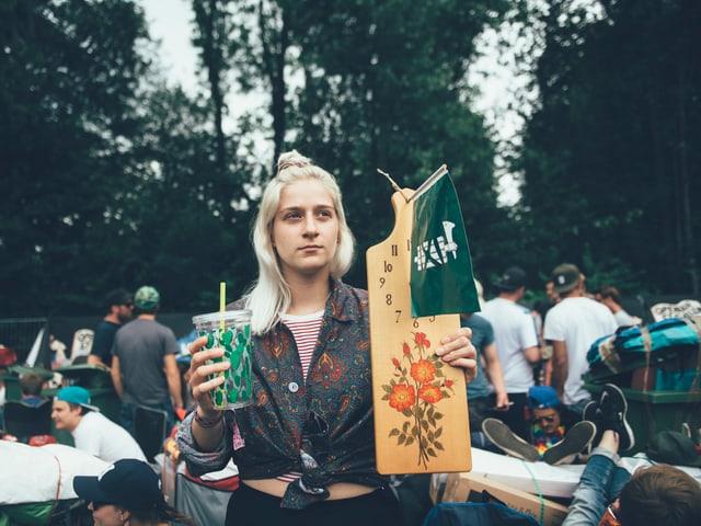 Helene und ihre Gegenstände.