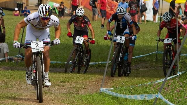 Nino Schurter am Weltcup in Mont-Sainte-Anne.