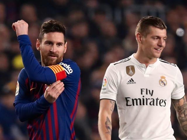 Lionel Messi und Toni Kroos.