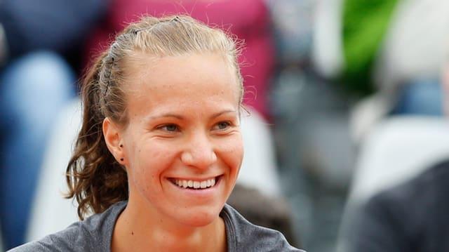 purtret da la giugadra da tennis svizra Viktorija Golubic