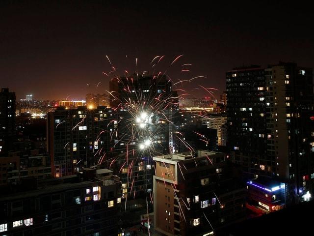 Feuerwerk über Peking