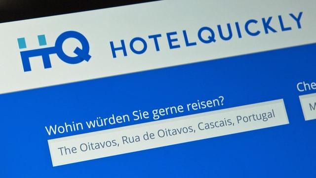 Internetseite von Hotelquickly