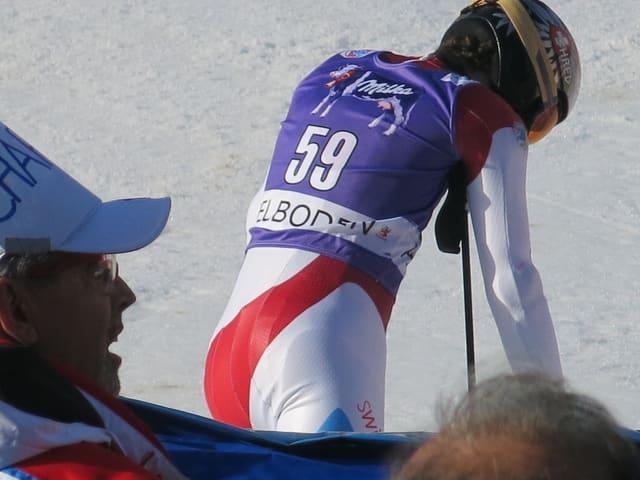 Elia Zurbriggen mit der Startnummer 59.