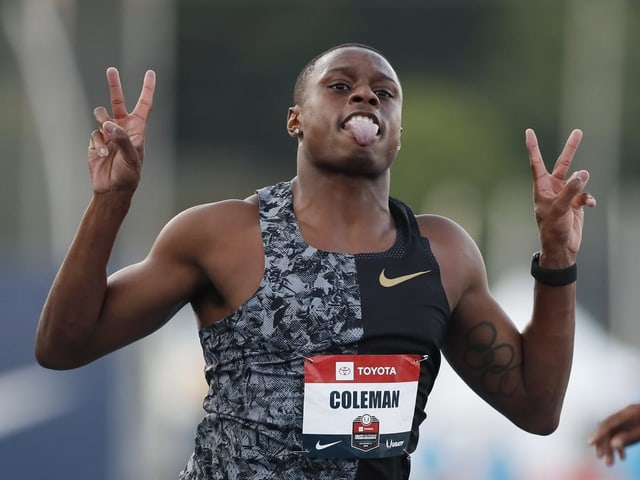 Der US-Topsprinter Christian Coleman.