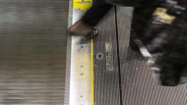 Eine grosse Schindler-Rolltreppe in einem Warenhaus.