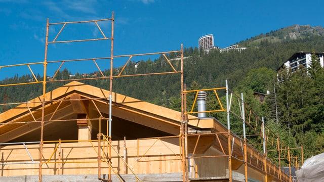 Baustelle im Berggebiet
