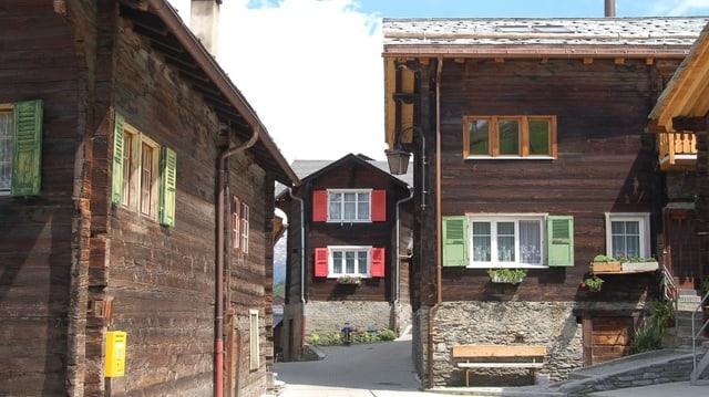 Ein Blick ins Dorf Visperterminen.