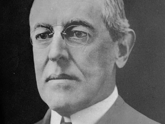 Schwarzweiss-Bild von Woodrow Wilson