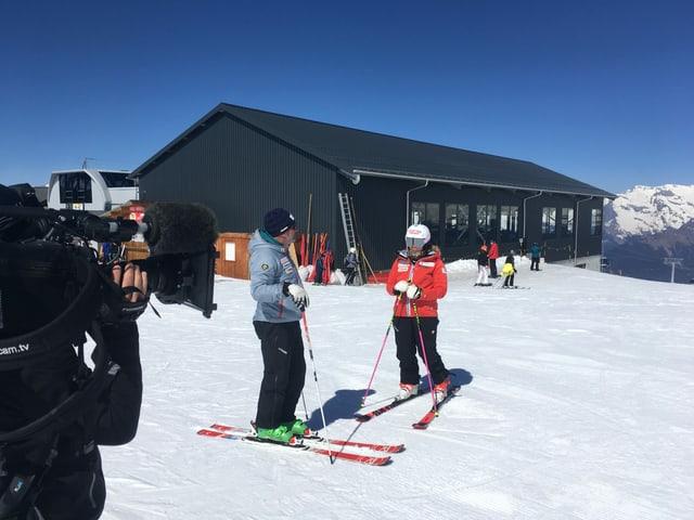 Meillard auf den Skiern.