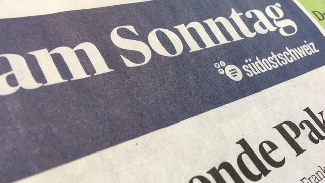 Il titel da l'ultima ediziun da la Schweiz am Sonntag.