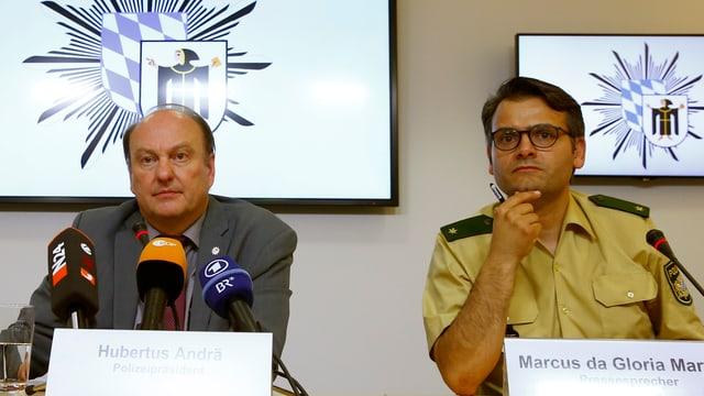 Pressekonferenz der Münchner Polizei