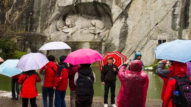 Die CVP der Stadt Luzern möchte die Umgebung des Löwendenkmals aufwerten.
