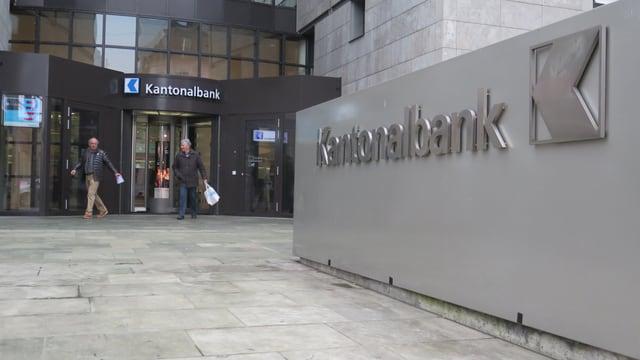 Eingang der Aargausichen Kantonalbank AKB