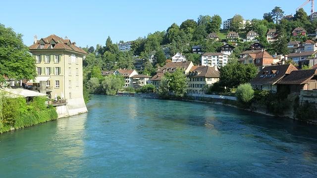 Das Altenberg von einer Brücke aus