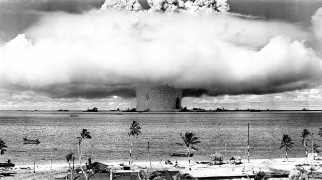 1946 hat die US-Regierung zum ersten Mal Atombomben auf dem Bikini-Atoll im Pazifik getestet.