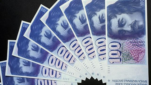 Veglias bancnotas da 100.