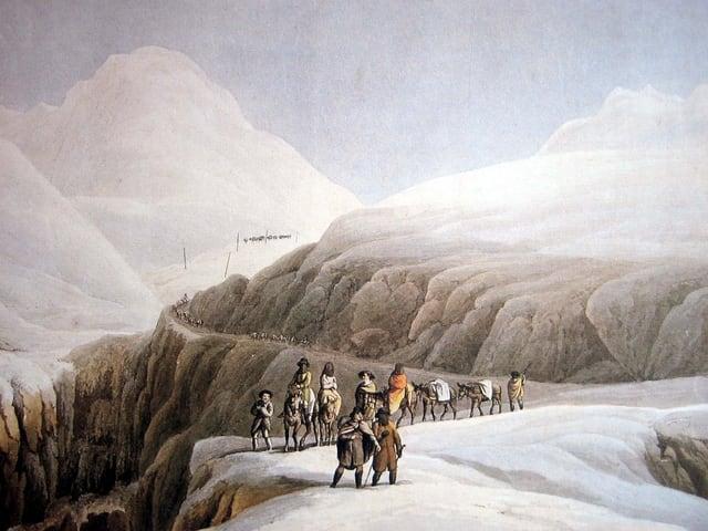 Um 1200 wagten sich erste Säumerkollonnen über den Gotthard.